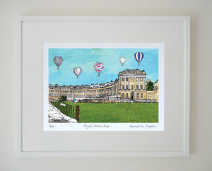 Royal Crescent Bath Limited Edition Giclee Print - architecture & buildings