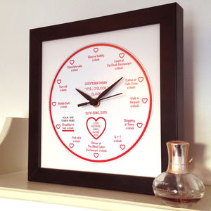 Personalised 'It's… O'clock' Lady's Birthday Clock - clocks