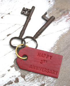 Personalised Luxury Leather Keyring - keyrings