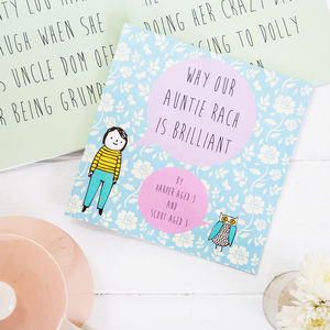 Personalised 'Why My Auntie Is Brilliant' Book - toys & games