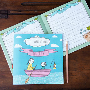 'Little Words Of Advice' Personalised Keepsake Book - planners & record books