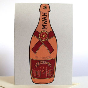 'A Toast To You And Me' Card - shop by occasion