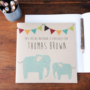 Personalised Elephant Notebook - stationery & desk accessories