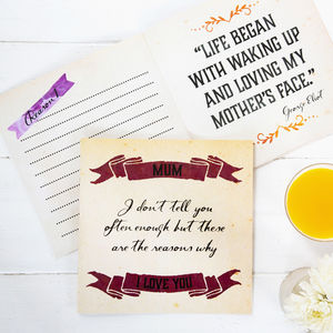 'Reasons I Love You' Mum Gift Book - gifts from younger children