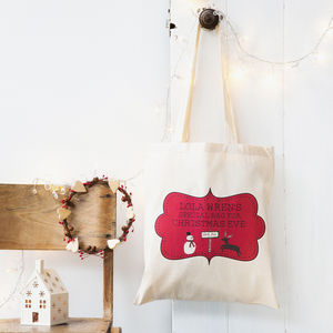 Personalised Christmas Eve Bag - christmas eve