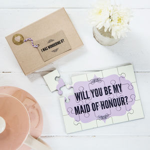 Will You Be My Maid Of Honour? Jigsaw - puzzles