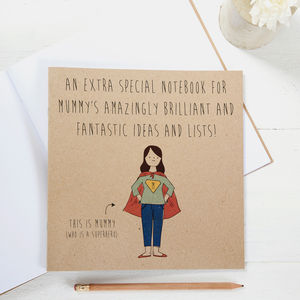 Mummy's Brilliant Superhero Notebook - token gifts