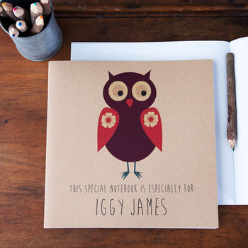Personalised Owl Illustration Notebook