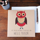 Personalised Owl Notebook