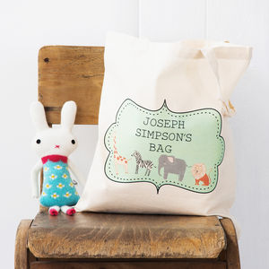Personalised Zoo Tote Bag