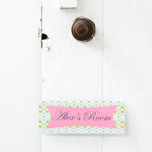 Personalised Contemporary Door Sign - signs