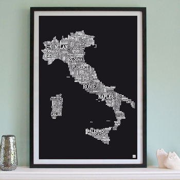 Italy Screen Print