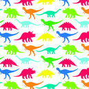 Multicoloured Dinosaur Print Wrapping Paper