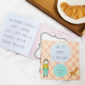 Personalised 'Why My Mummy Is Brilliant' Gift Book - books
