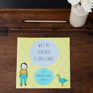 Personalised 'Why My Teacher Is Brilliant' Book - books