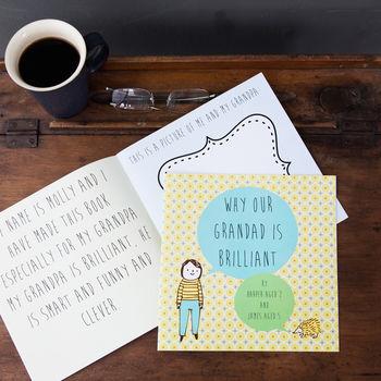 Personalised 'Why Grandad Is Brilliant' Book