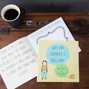 Personalised 'Why My Grandad Is Brilliant' Gift Book - gifts for grandparents