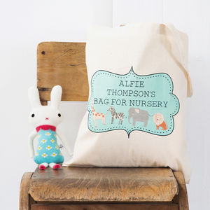 Personalised Nursery Tote Bag - more