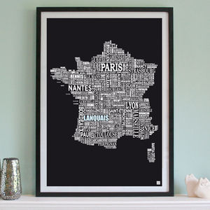 Personalised France Print - map-inspired homeware