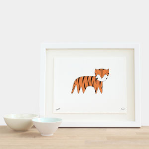 Tiger Print - pictures & prints for children