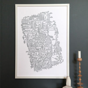 New York City Map Print - contemporary art