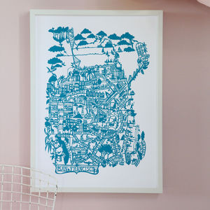 San Francisco Map Print - maps & locations