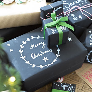 Chalk Board Wrapping Kit - ribbon & wrap