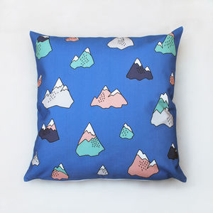 Mountains Cushion - bedroom