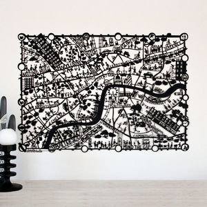 London Paper Cut Map - less ordinary art for the office