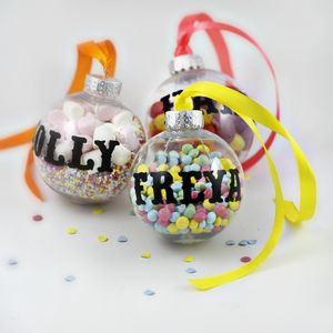 Personalised Fill Me Up Baubles - sweets