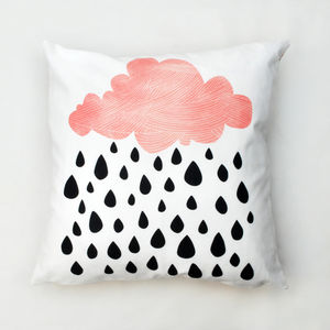 Raining Clouds Cushion - baby's room