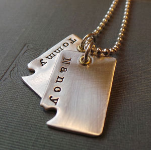 'Piece Of My Heart' Dog Tags - men's jewellery & cufflinks