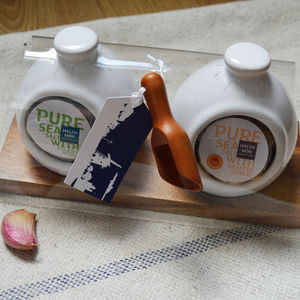 Celery And Garlic Salt Pig Gift Set - kitchen accessories