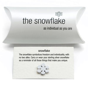 Silver Snowflake Keepsake Pin - wedding favours