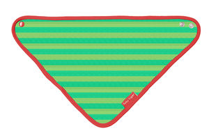 Organic Cotton Green And Red Dribble Bib