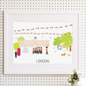 London Buckingham Palace Art Print
