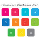 Personalised card colour chart