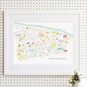 Map Of Kew Gardens Print - home sale