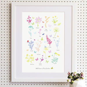 Wild Flowers Of Kew Gardens Print - pictures & prints for children