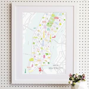 Map Of New York City Print