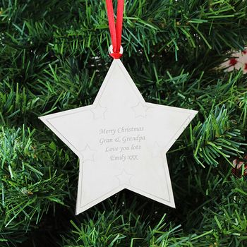 Star Personalised Christmas Tree Decoration