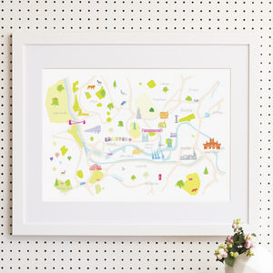 Map Of Bristol Print - nursery pictures & prints