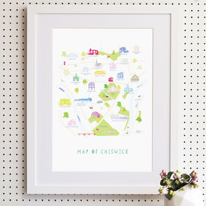 Map Of Chiswick Print - pictures & prints for children