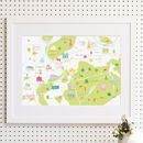 Map Of Richmond And Surrounding Areas Print