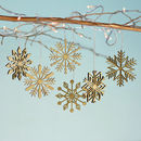 Christmas Bamboo Snowflake Decoration Set