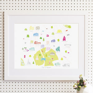 Map Of Highgate Print - nursery pictures & prints