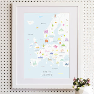 Map Of Europe Print