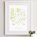 Map Of Wimbledon Art Print