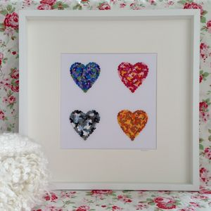 Four Seasons Butterfly Heart Picture - mixed media pictures for children