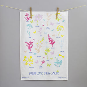 Wildflowers Of Kew Gardens Tea Towel - kitchen accessories